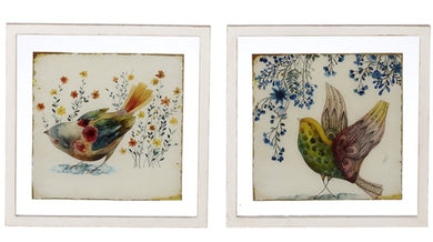 Floating Framed Bird Wall Decor
