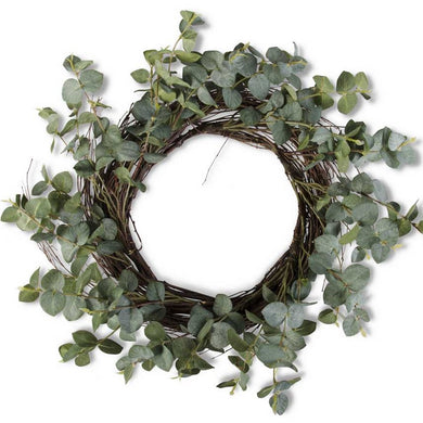 Eucalyptus Wreath w/Grapevine Base -20