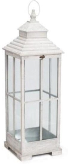 White  Wood Lanterns  - L Available