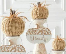 Cream Crochet Pumpkin - 2 Sizes