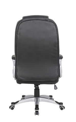 ... Luxury Ergonomic Chair High Back PU Leather Executive Office Chair  Computer Desk Black