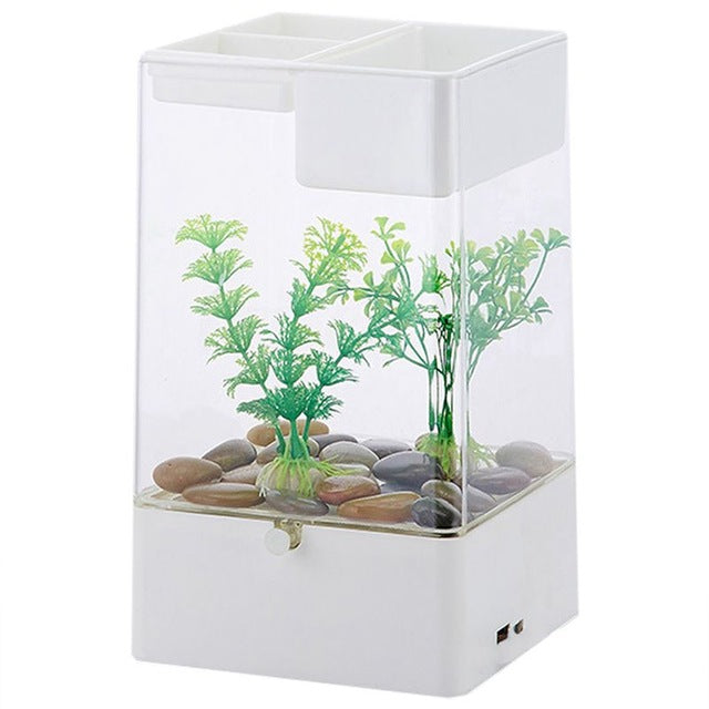 LED In Built Office Desk Fish Tank With Filter   Pryre
