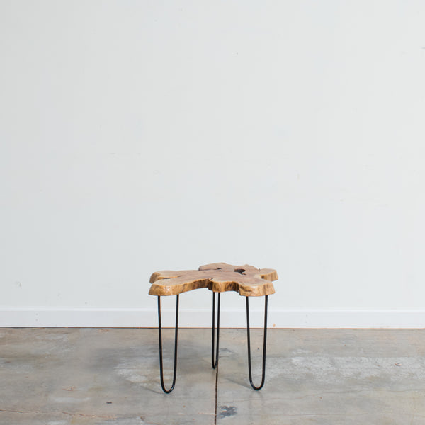 Live Edge Teak Hairpin Table