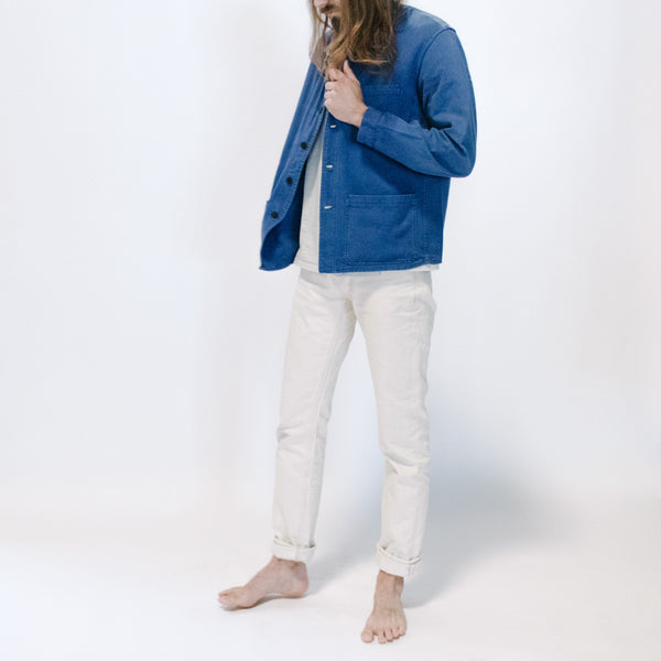 1960's Faded Blue Moleskin Jacket, Small