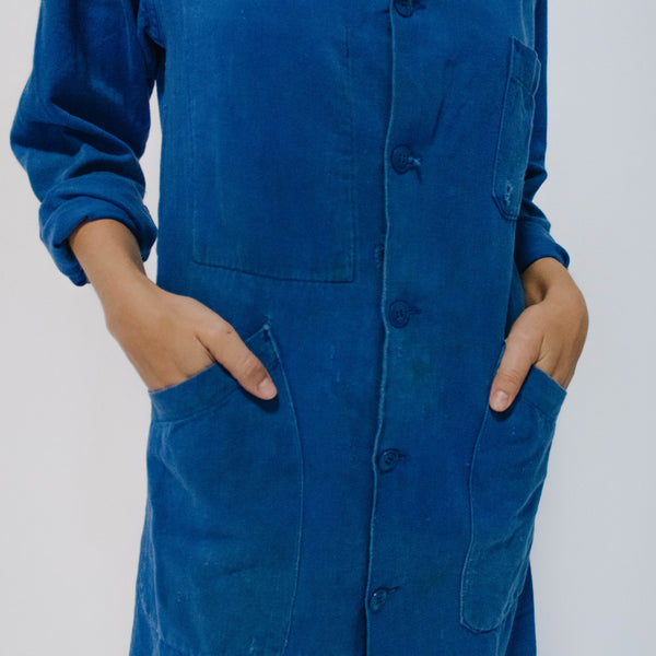 1960's Faded Blue Bugatti Factory Coat