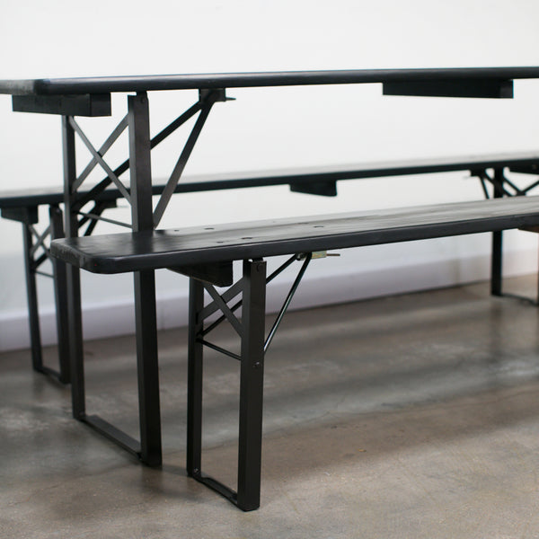 Single Malt Scotchgarten Table + Bench Set