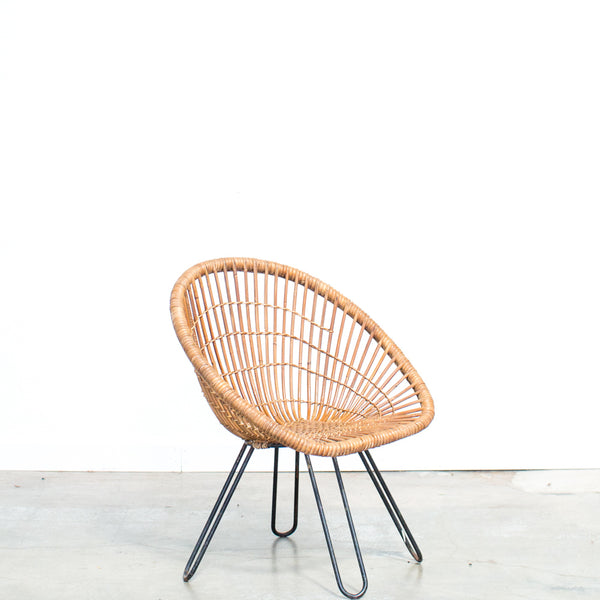 1950s French Rattan Chair
