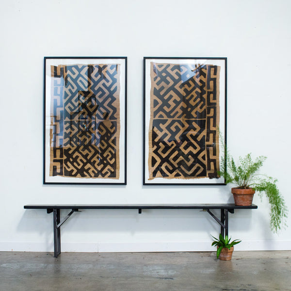 Framed Kuba Cloth Remnant