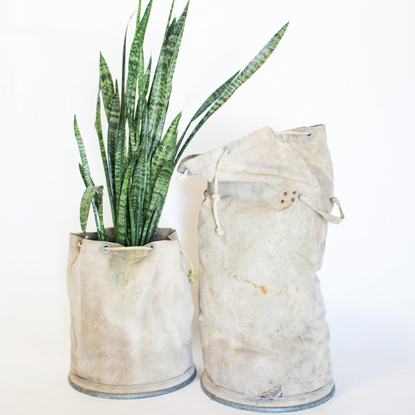 Canvas Metal Bottom Bags