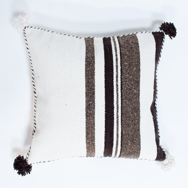 Striped Wool Pom Pillows
