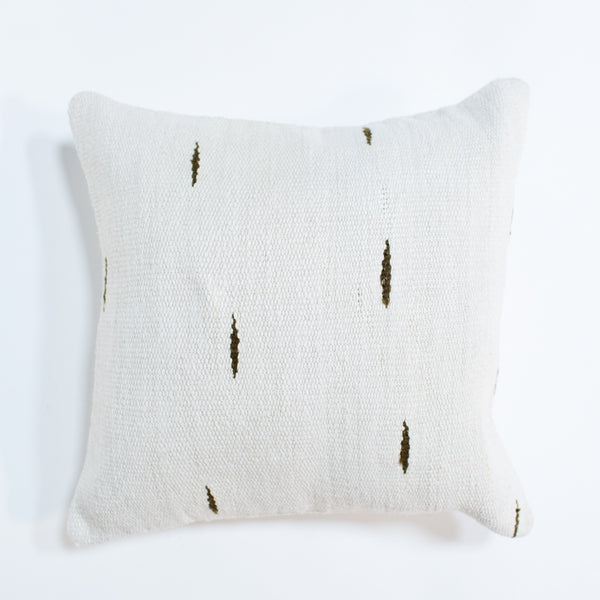 Olive Dashes Pillow