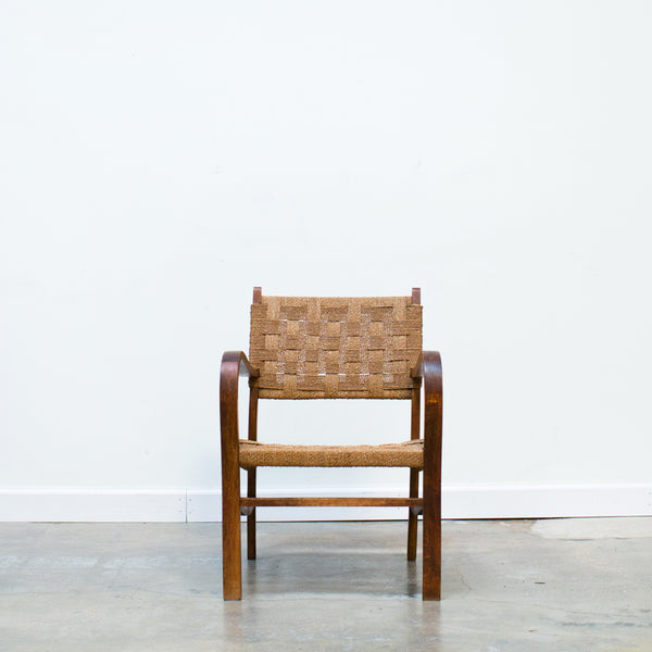 MCM Bentwood Chair with Jute Webbing
