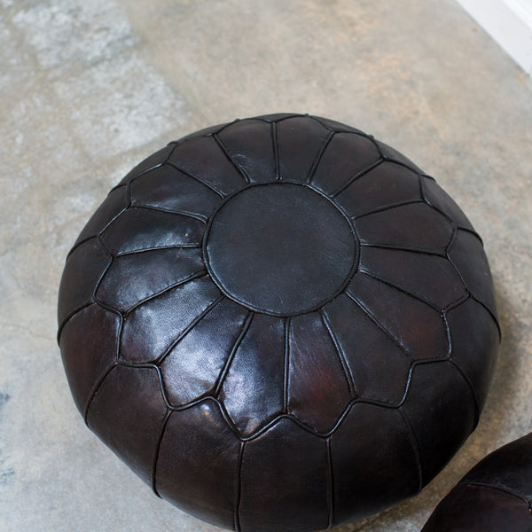Black Leather Cushion