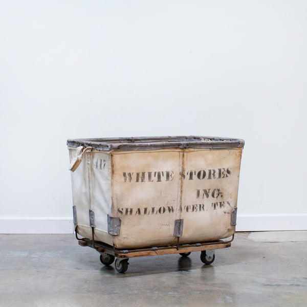 White Stores Canvas Storage Bin