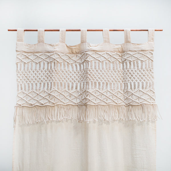 Macrame Canvas Curtain