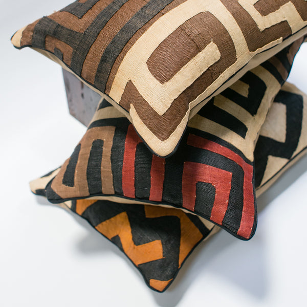 Kuba Cloth Lumbar Pillows