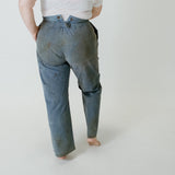 20's - 30's Cotton + Linen Indigo Trousers I