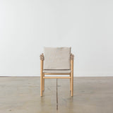 Temps Libre Natural Linen Safari Chair
