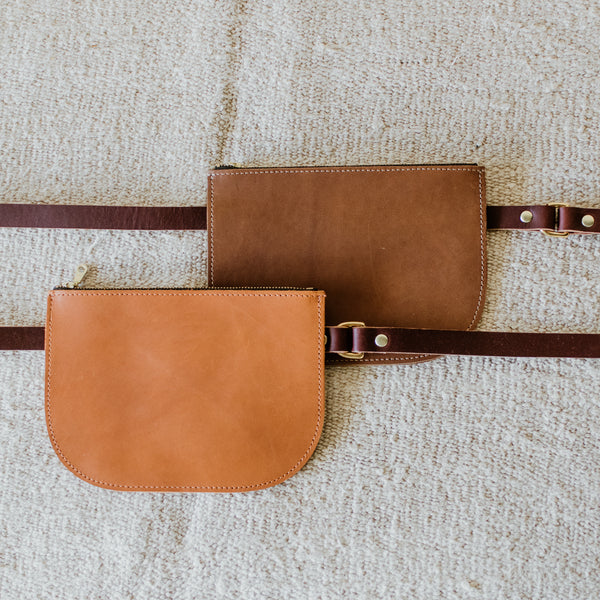 Cocoa Leather Fanny Pack