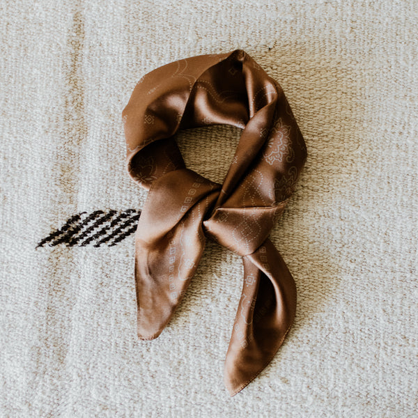 Brown Silk Bandana
