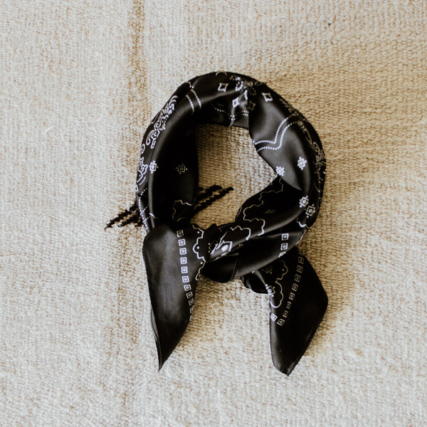 Black Silk Bandana