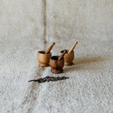Mini Wooden Mortar & Pestle