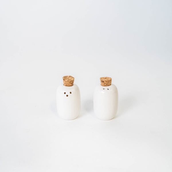Ceramic Salt + Pepper Shakers