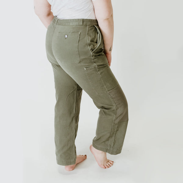 HBT Patched Khaki Trousers