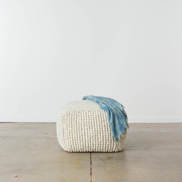 New Zealand Wool Popcorn Pouf