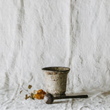 Antique Cast Iron Mortar & Pestle