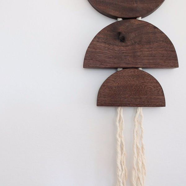 Walnut and Rope Dune Hanging