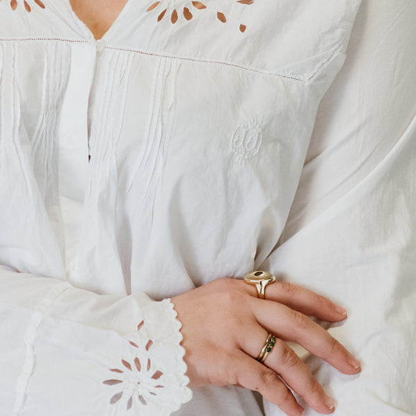 White Eyelet Blouse I