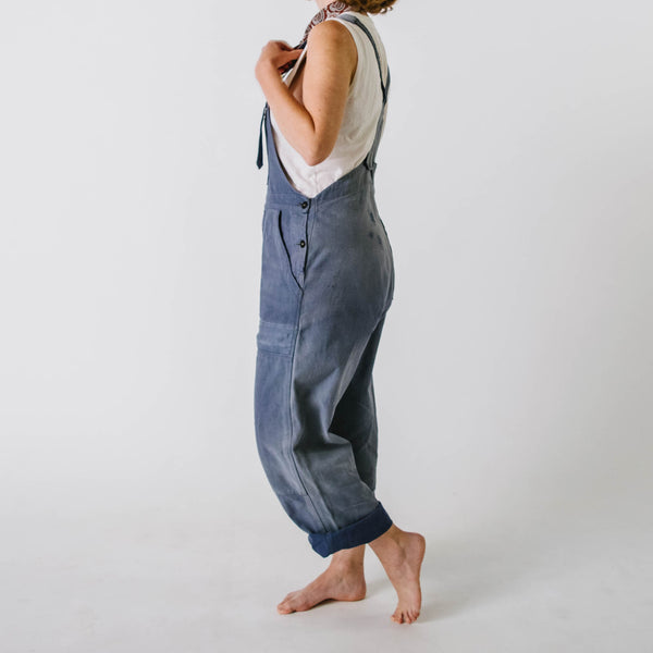 1950's Patched Blue Sanforized Dungarees
