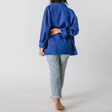 1960s Faded Blue Moleskin Jacket, Large