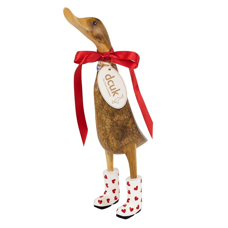 DCUK Red Hearts Welly Duck - 30cm Ducklet