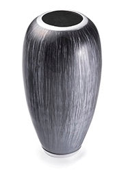 Recycled Aluminium Vase - Brushed Grey