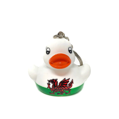 Welsh Mini Rubber Duck - Keyring