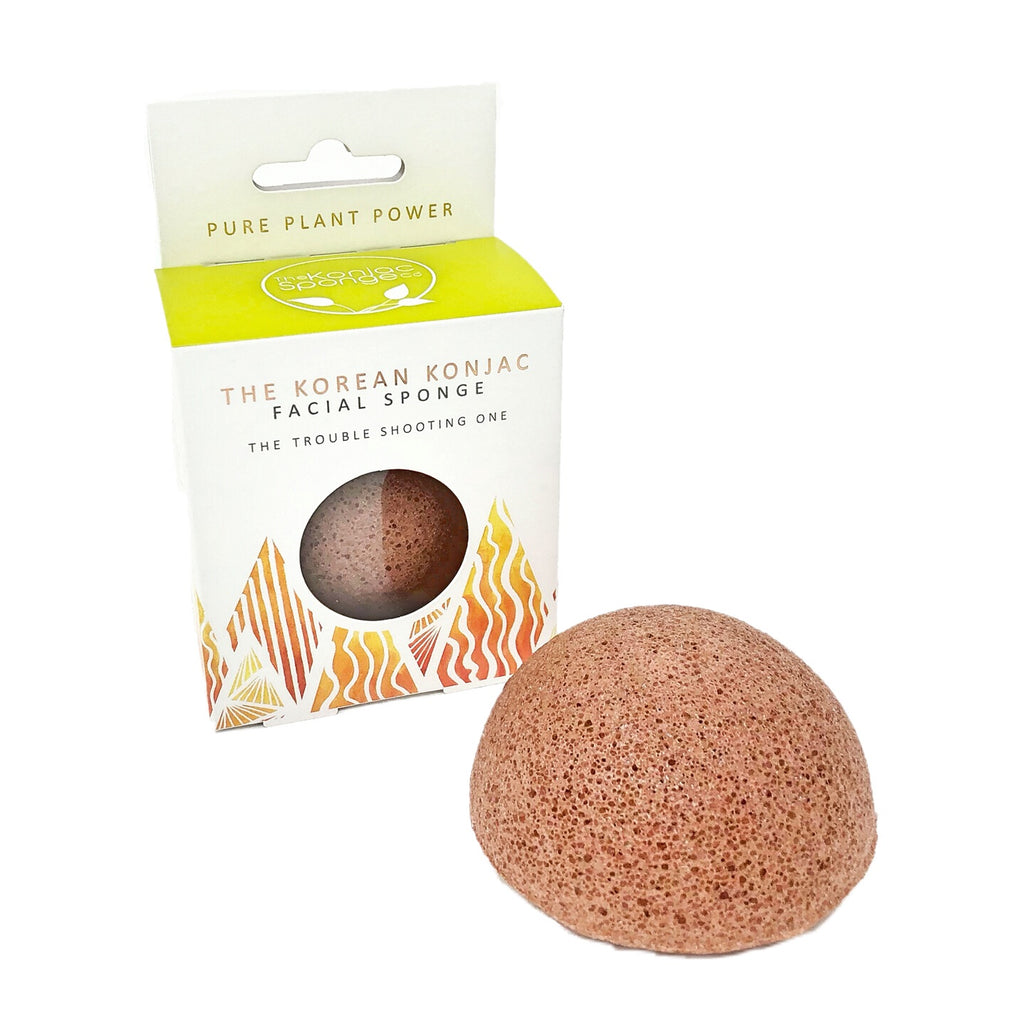 'Fire' Elements Konjac Facial Sponge with Purifying Volcanic Scoria