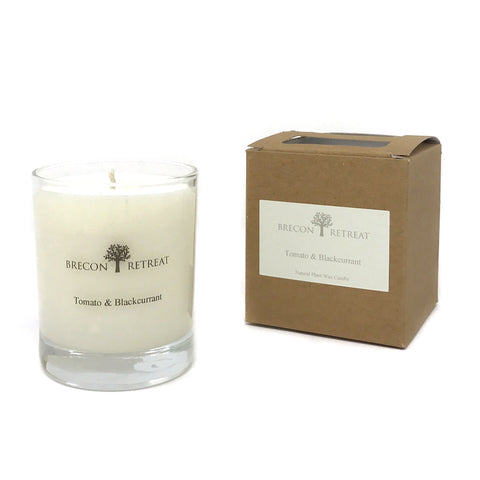 Organic Natural Scented Candle - 'Tomato & Blackcurrant'