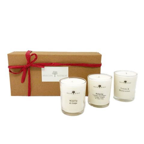 Organic Natural Scented Votives - Trio Variety Set