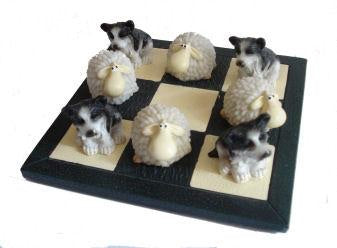 Welsh Tic Tac Toe - Sheep & Sheepdog
