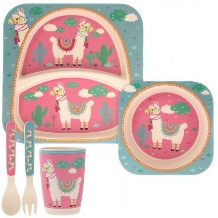 Bamboo Children's Dinner Set - Alpaca