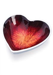 Recycled Aluminium Heart Dish - Red