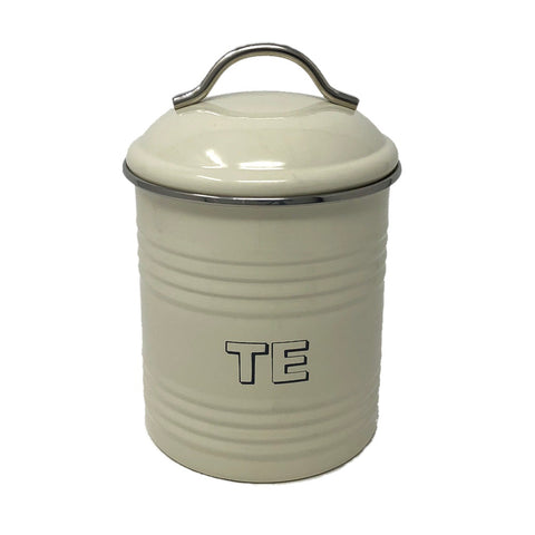 'Te' Welsh Kitchen Tea Canister - Cream