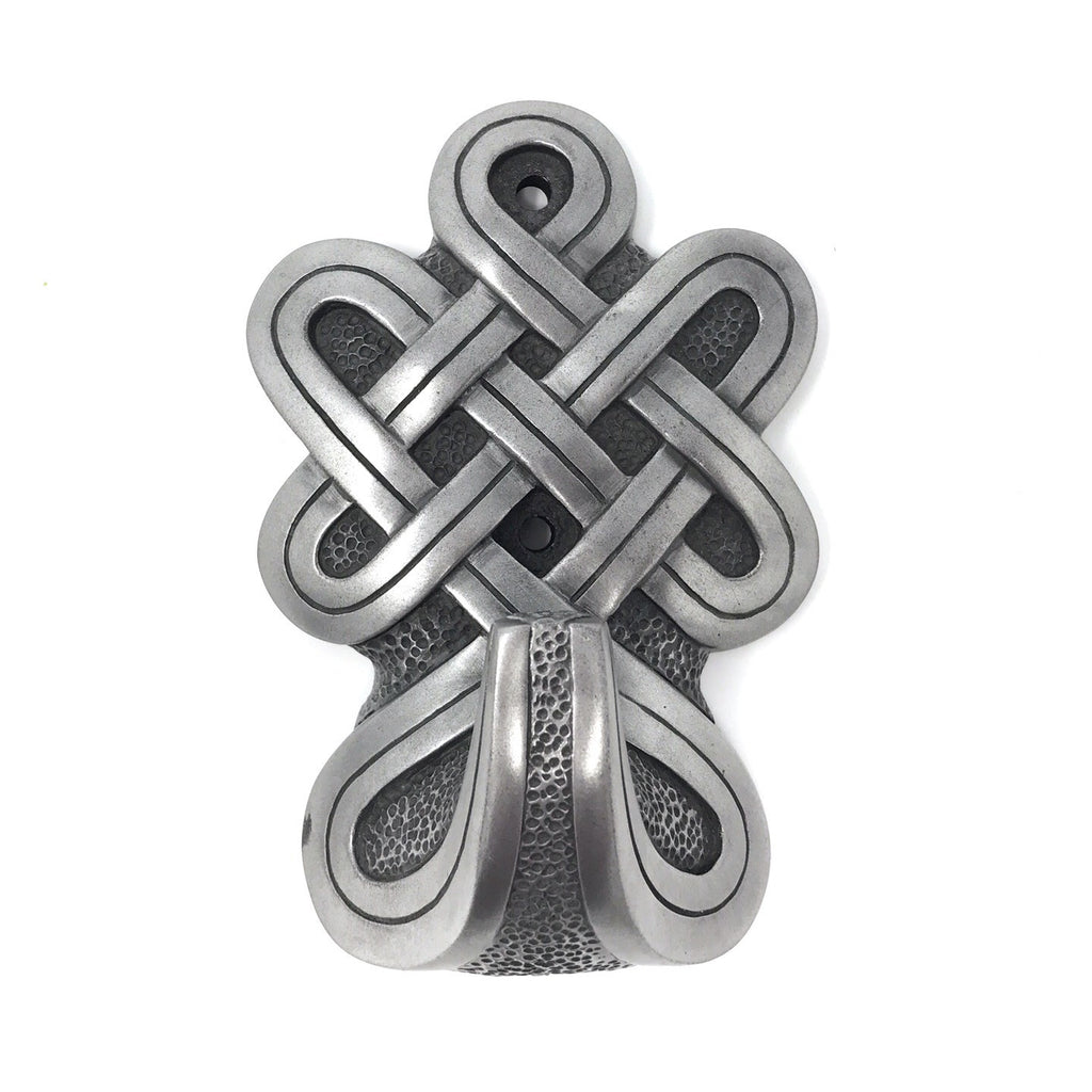 Celtic Silver Pewter Door Hook