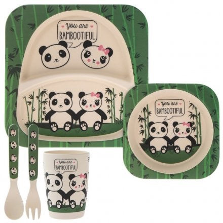 Bamboo Children's Dinner Set - Pandas