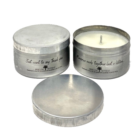 Relaxing Travel Candle - Gift Message