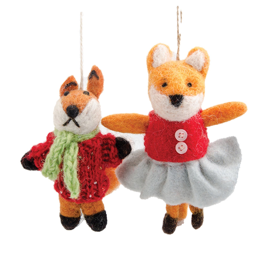 Mr & Mrs Fox - Felt Christmas Tree Decoration
