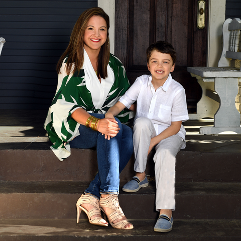 Susan Watt - Owner of The Itsy Bitsy Boutique in Houston Texas with her son Joey