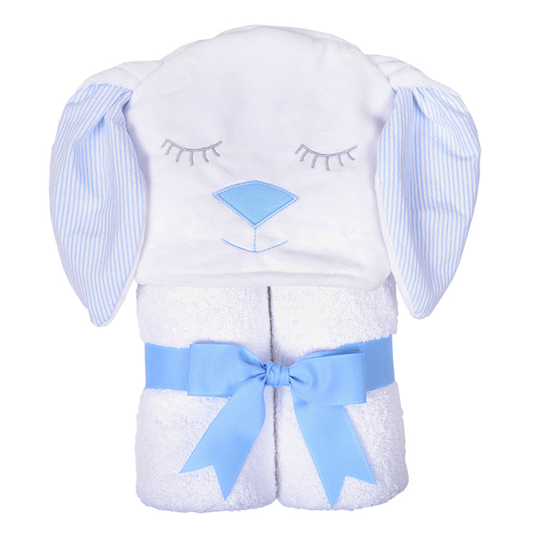 Blue Bunny Hooded Towel